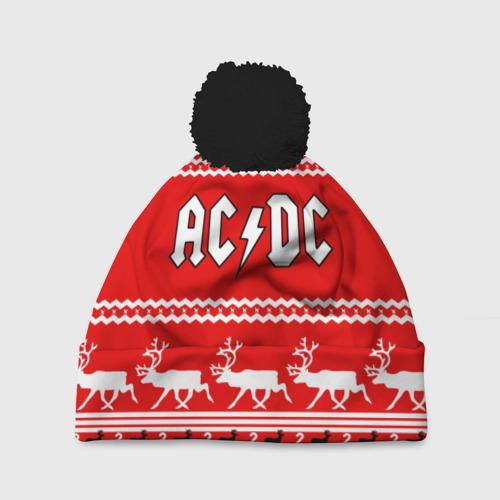 Шапка 3D c помпоном Праздничный AC/DC