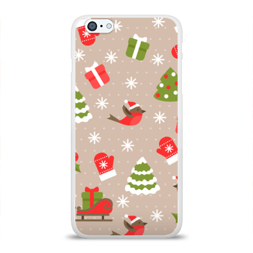 Чехол для Apple iPhone 6Plus/6SPlus силиконовый глянцевый К нам стучится Новый год!  Фото 01