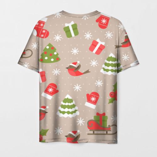 Мужская футболка 3D К нам стучится Новый год!  Фото 01