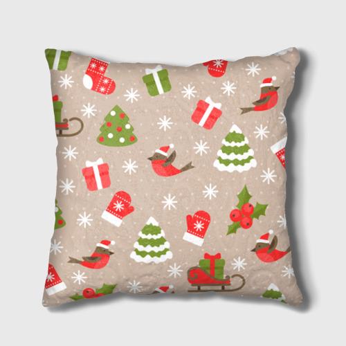 Подушка 3D К нам стучится Новый год!  Фото 01