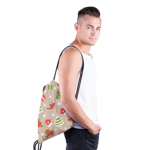 Рюкзак-мешок 3D К нам стучится Новый год!  Фото 01