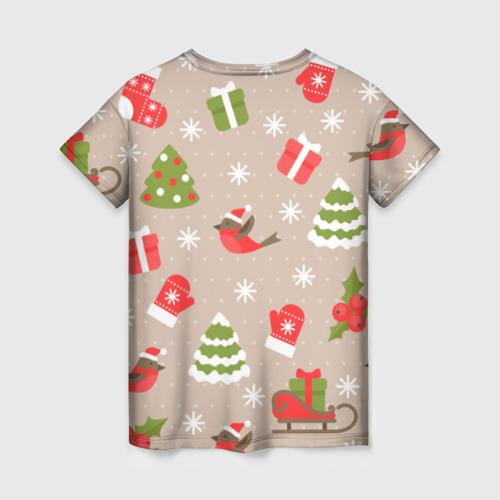 Женская футболка 3D К нам стучится Новый год!  Фото 01