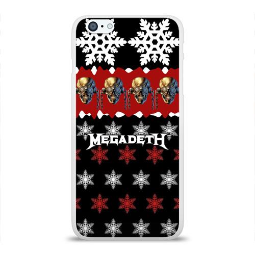 Чехол для Apple iPhone 6Plus/6SPlus силиконовый глянцевый  Фото 01, Праздничный Megadeth
