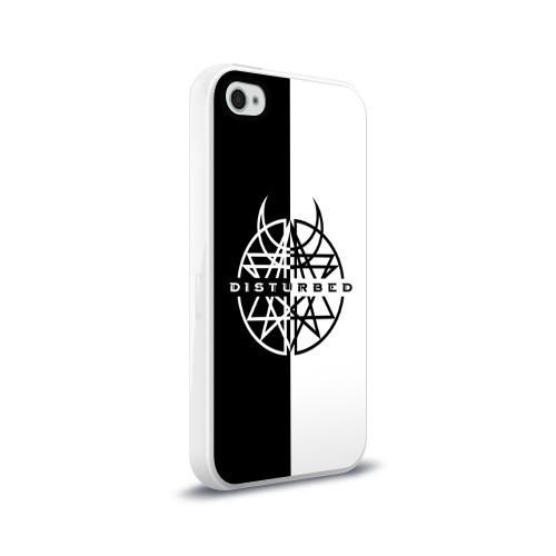 Чехол для Apple iPhone 4/4S силиконовый глянцевый  Фото 02, Disturbed