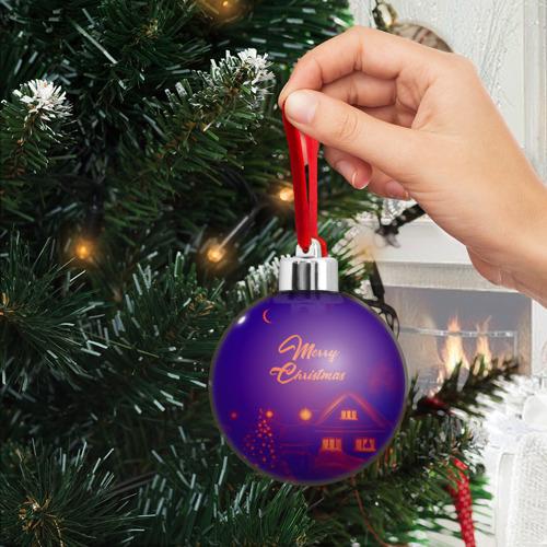 Ёлочный шар  Фото 03, Merry Christmas