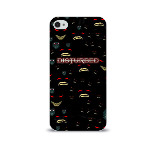 Чехол для Apple iPhone 4/4S soft-touch  Фото 01, Disturbed