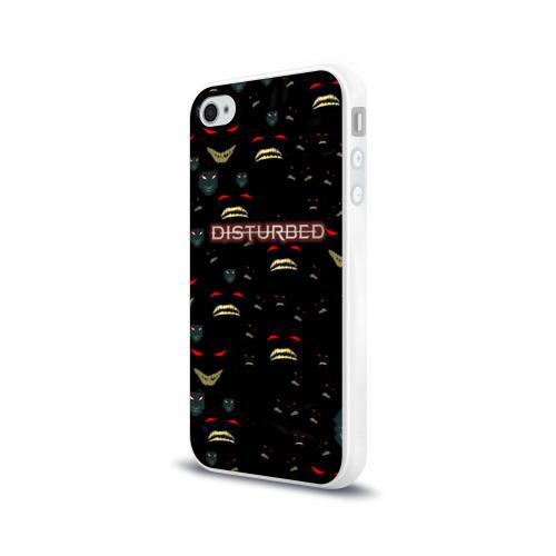 Чехол для Apple iPhone 4/4S силиконовый глянцевый  Фото 03, Disturbed