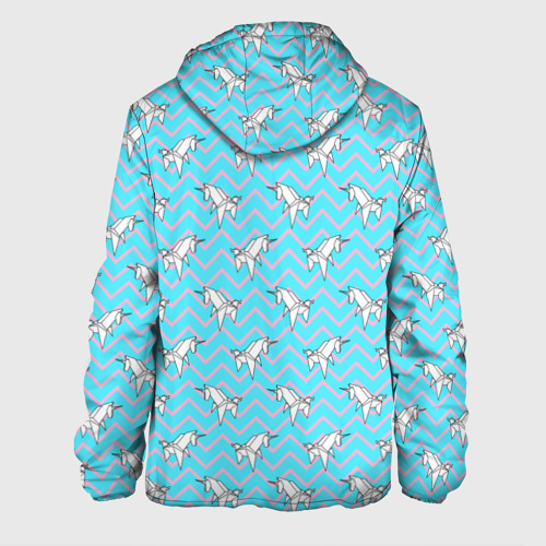Мужская куртка 3D  Фото 02, Бумажный единорог - зигзаг