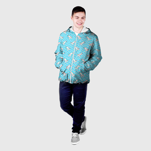 Мужская куртка 3D  Фото 03, Бумажный единорог - зигзаг