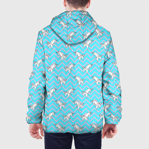 Мужская куртка 3D Бумажный единорог - зигзаг