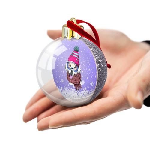 Ёлочный шар с блестками  Фото 03, Winter