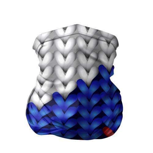 Бандана-труба 3D Вязаный триколор