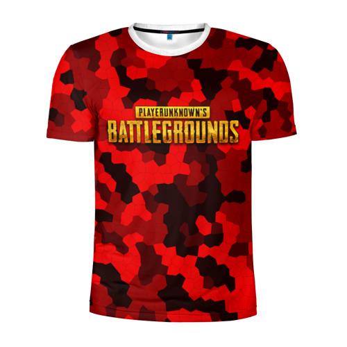 Мужская футболка 3D спортивная  Фото 01, PUBG Red Military