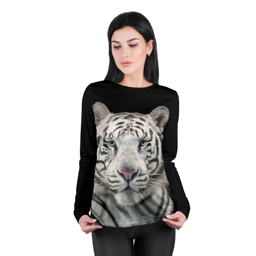 Женский лонгслив 3D для беременных  Фото 04, White tiger