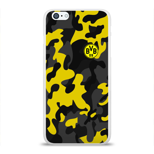 Чехол для Apple iPhone 6Plus/6SPlus силиконовый глянцевый  Фото 01, Borussia 2018 Military Sport