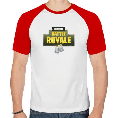 Мужская футболка реглан  Фото 01, Fortnite battle royale