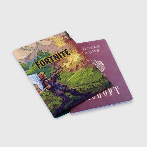 Обложка для паспорта матовая кожа Fortnite Королевская битва Фото 01