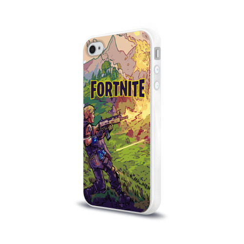 Чехол для Apple iPhone 4/4S силиконовый глянцевый  Фото 03, Fortnite Королевская битва