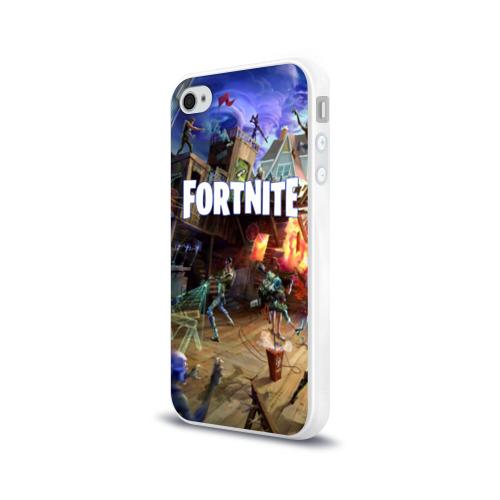 Чехол для Apple iPhone 4/4S силиконовый глянцевый  Фото 03, Fortnite massacre