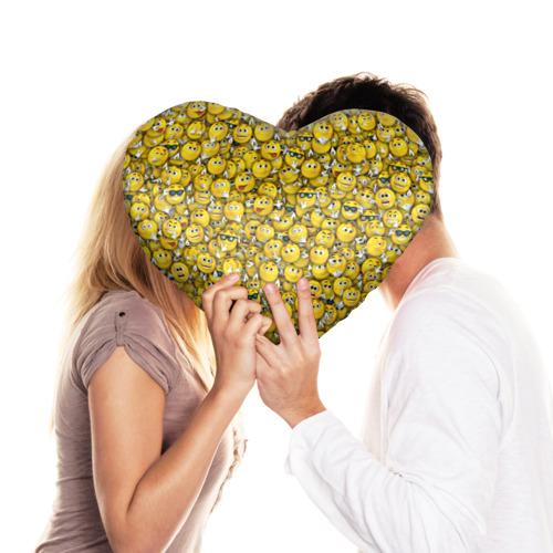 Подушка 3D сердце  Фото 03, Веселые смайлики