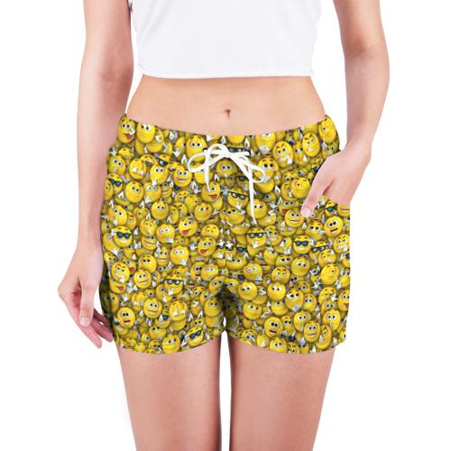 Женские шорты 3D  Фото 03, Веселые смайлики