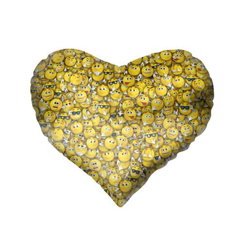 Подушка 3D сердце  Фото 02, Веселые смайлики