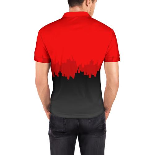 Мужская рубашка поло 3D  Фото 04, PUBG BLOOD