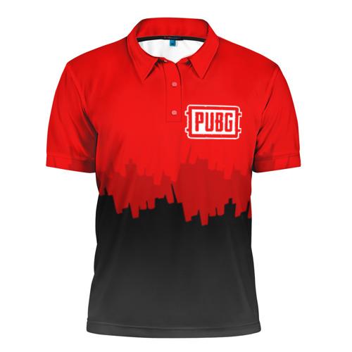 Мужская рубашка поло 3D  Фото 01, PUBG BLOOD