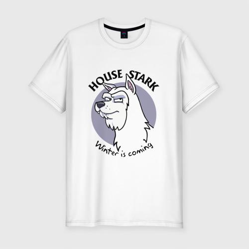 Мужская футболка премиум  Фото 01, House Stark, Winter is coming