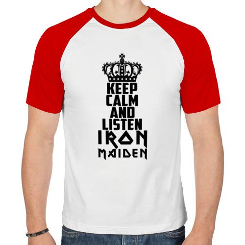 Мужская футболка реглан  Фото 01, Keep calm and listen IM