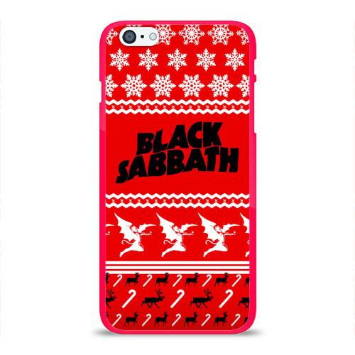 Чехол для Apple iPhone 6Plus/6SPlus силиконовый глянцевый  Фото 01, Праздничный Black Sabbath