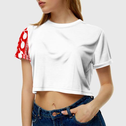 Женская футболка Crop-top 3D PUBG Новогодняя защита Фото 01