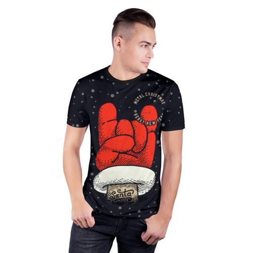 Мужская футболка 3D спортивная Metal Christmas Heavy New Year Фото 01