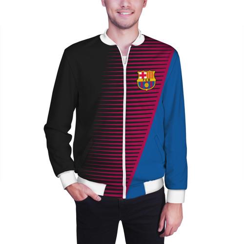 Мужской бомбер 3D  Фото 03, FC Barca 2018 Creative uniform