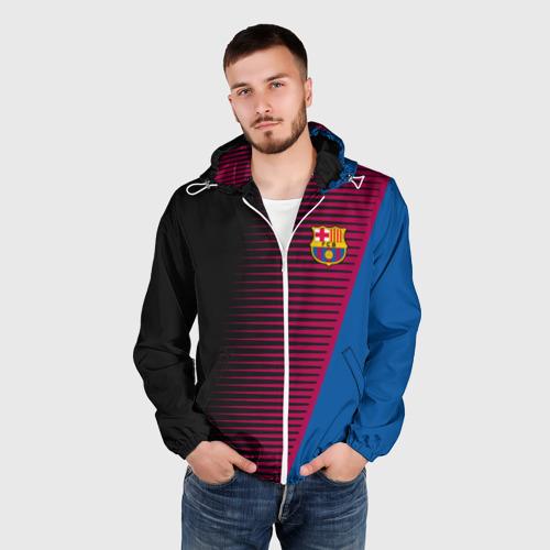 Мужская ветровка 3D  Фото 03, FC Barca 2018 Creative uniform