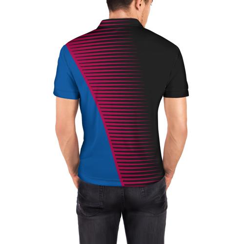 Мужская рубашка поло 3D  Фото 04, FC Barca 2018 Creative uniform