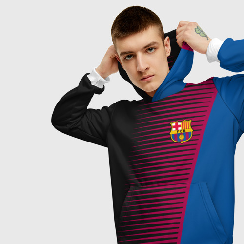 Мужская толстовка 3D  Фото 01, FC Barca 2018 Creative uniform