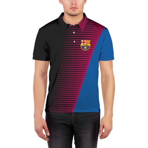 Мужская рубашка поло 3D  Фото 03, FC Barca 2018 Creative uniform