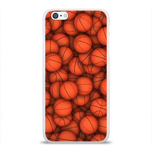 Чехол для Apple iPhone 6Plus/6SPlus силиконовый глянцевый Баскетбольные мячи Фото 01
