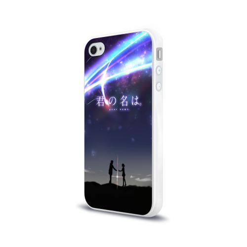 Чехол для Apple iPhone 4/4S силиконовый глянцевый Your name_2 Фото 01