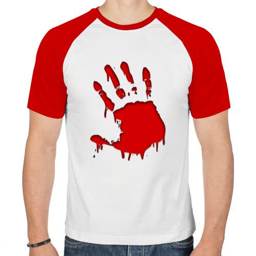 Мужская футболка реглан  Фото 01, Кровавый отпечаток