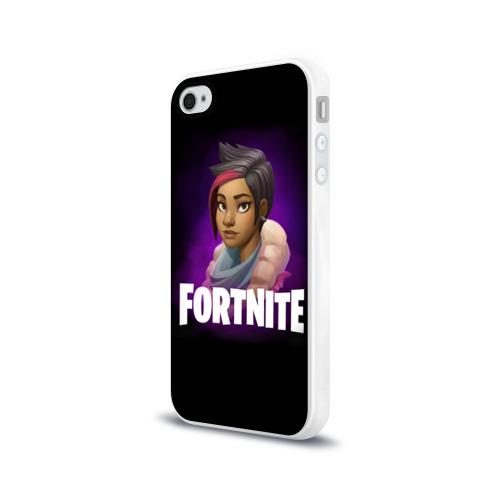 Чехол для Apple iPhone 4/4S силиконовый глянцевый  Фото 03, Fortnite