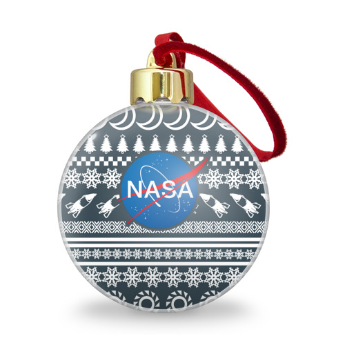 Ёлочный шар с блестками  Фото 01, Свитер NASA