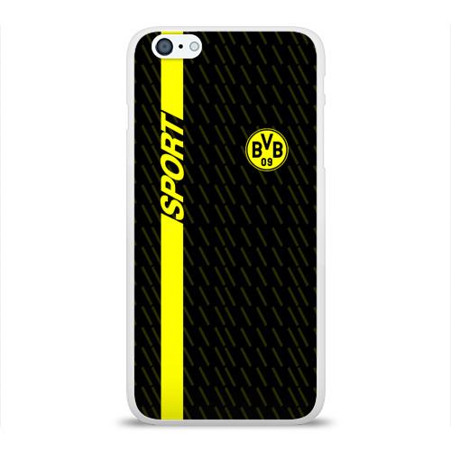 Чехол для Apple iPhone 6Plus/6SPlus силиконовый глянцевый  Фото 01, FC Borussia 2018 Sport