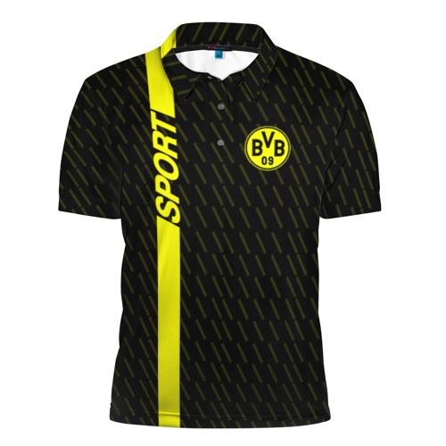 Мужская рубашка поло 3D  Фото 01, FC Borussia 2018 Sport