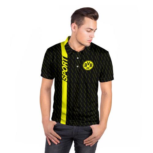 Мужская рубашка поло 3D  Фото 05, FC Borussia 2018 Sport