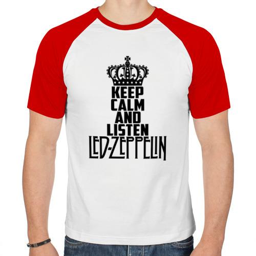 Мужская футболка реглан  Фото 01, Keep calm and listen LedZep
