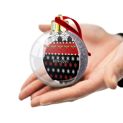 Ёлочный шар с блестками  Фото 03, Праздничный Bon Jovi