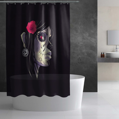 Штора 3D для ванной  Фото 03, Девушка
