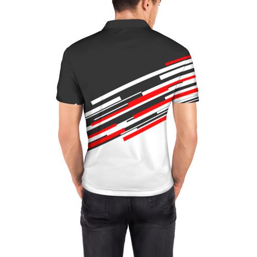 Мужская рубашка поло 3D  Фото 04, RUSSIA - Black and White
